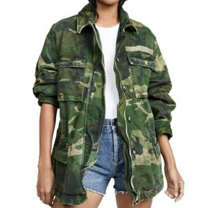 Free People Seize the Day Camo Jacket Size S NWT